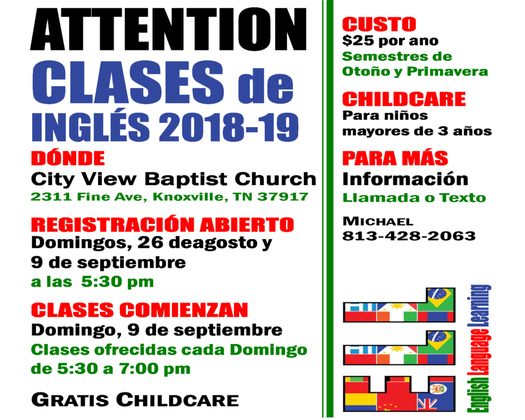 English Classes at City View (Spanish)