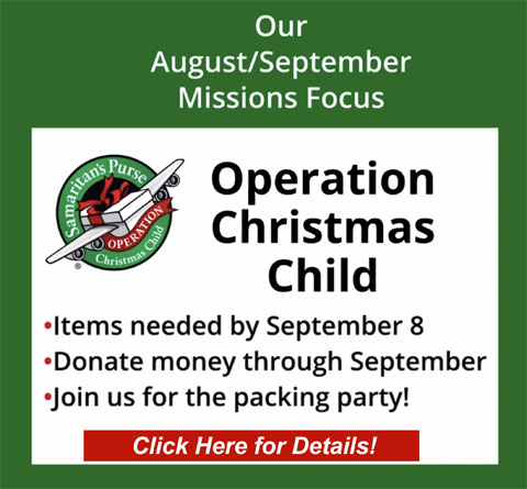 Missions Focus for August & September